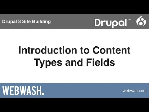 Drupal 8 Site Building, 2.1: Introduction to Content Types and Fields