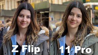 samsung Galaxy Z Flip vs iPhone 11 Pro Max - Speed Test!