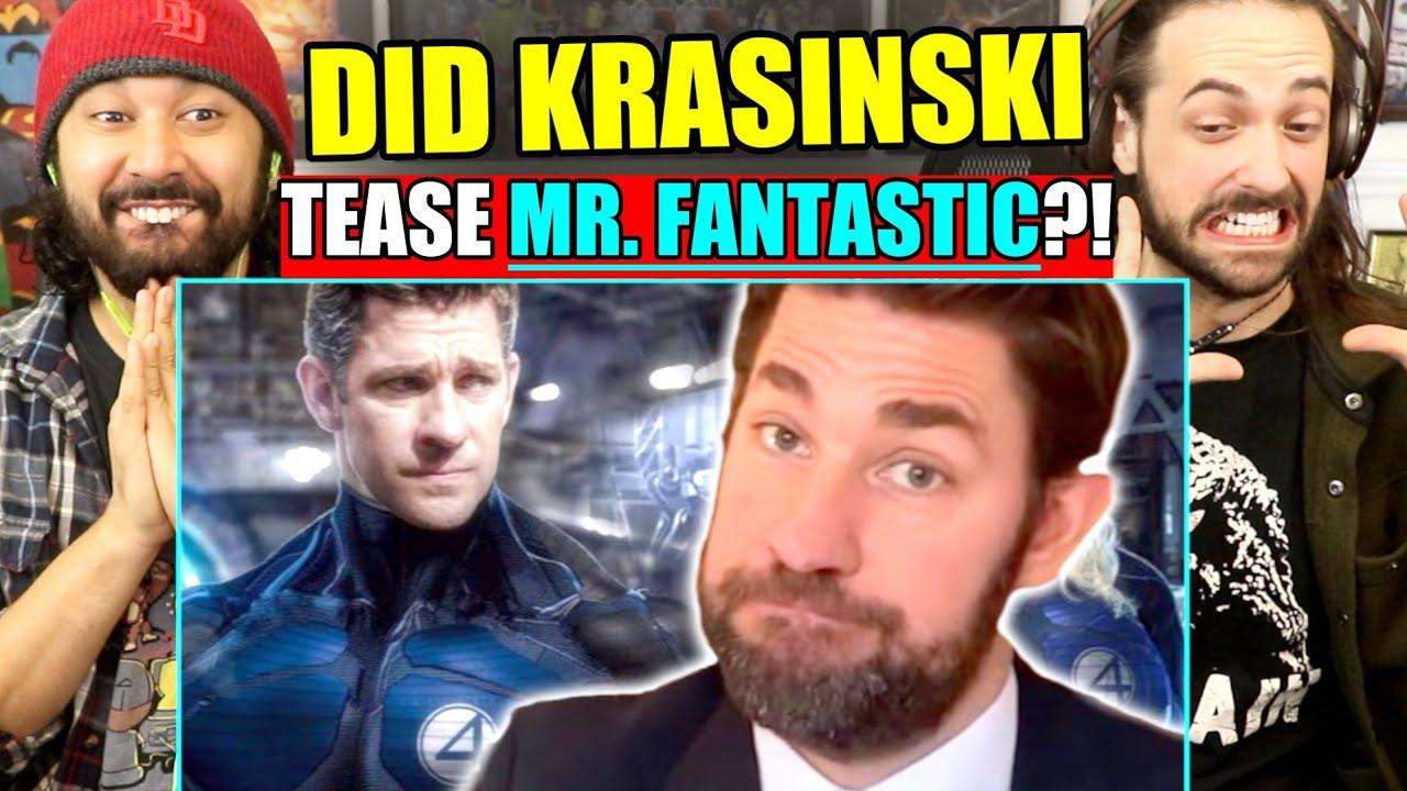 FANTASTIC FOUR CASTING?! John Krasinski OFFICIALLY Met With Marvel Studios | REACTION!!!