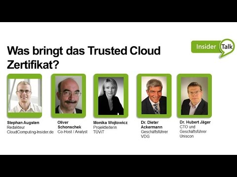 Insider Talk Episode #6: Was bringt das Trusted Cloud Zertifikat?