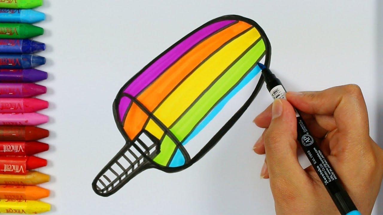 Rengarenk Dondurma Boyama Sayfaları Dondurma Nasıl çizilir