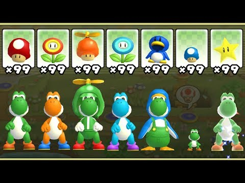 Thumbnail: New Super Mario Bros. Wii - All Yoshi Power-Ups