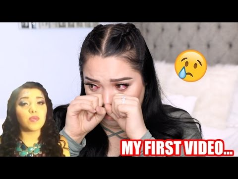 REACTING TO MY FIRST YOUTUBE VIDEO | VERY EMOTIONAL!