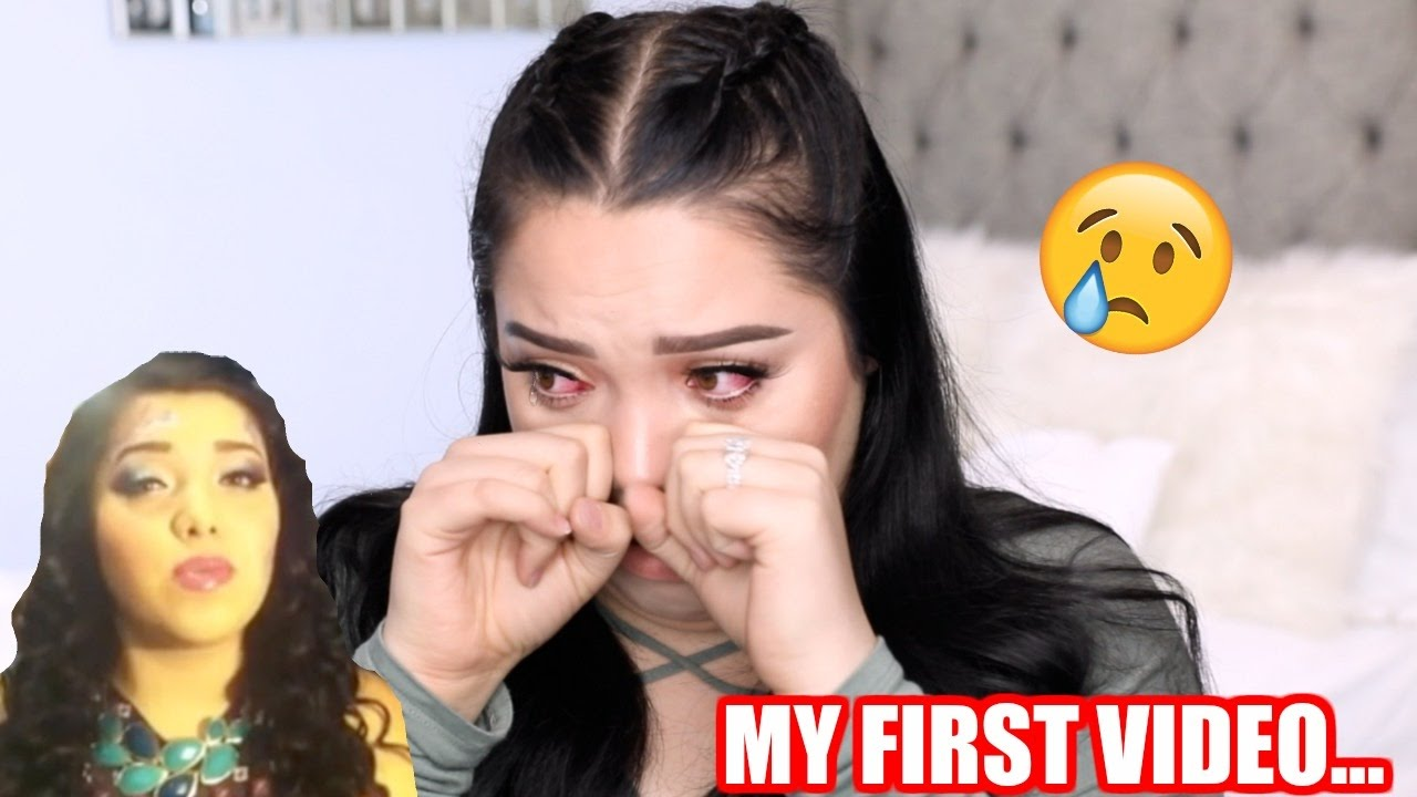 reacting-to-my-first-youtube-video-very-emotional