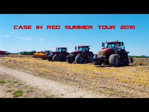 Agricultural-Work Case IH Red Summer Tour
