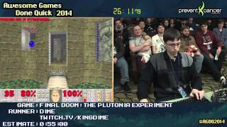 Final Doom: The Plutonia Experiment :: Ultra Violence SPEED RUN (0:45:29) [PC] by Dime #AGDQ 2014