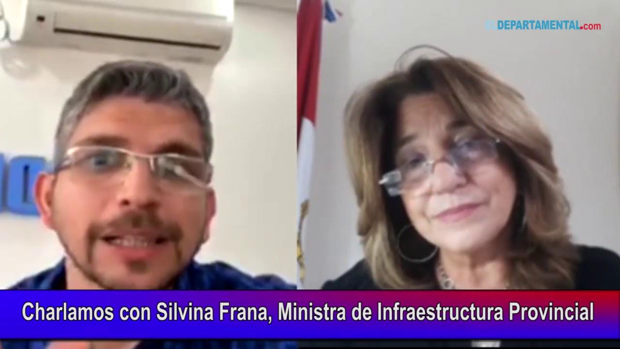 Charlamos con Silvina Frana, Ministra de Infraesctructura Provincial