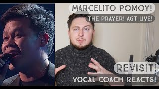 Vocal Coach Reacts! Marcelito Pomoy! The Prayer! Live @ AGT The Champions! (Performance Revisit!)