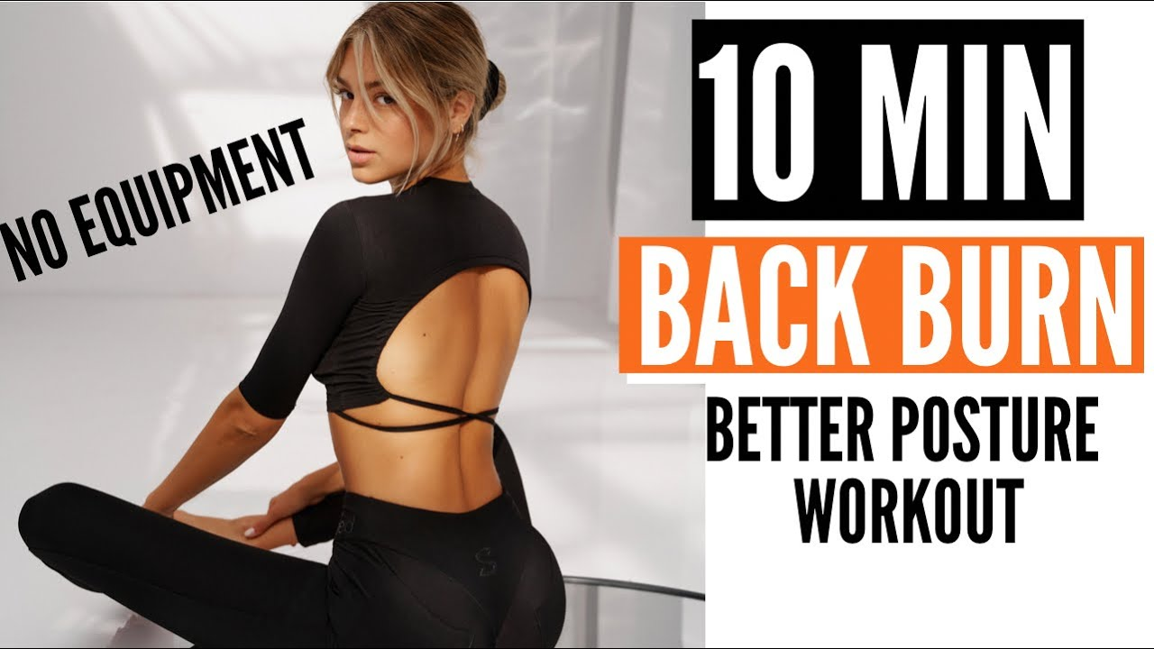 10 MIN. BACK BURN - stronger upper & lower back / better posture/ no more back pain | Mary Braun
