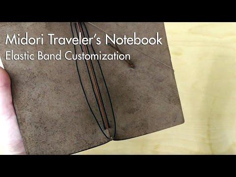 Midori Traveler's Notebook - Elastic Band Customization