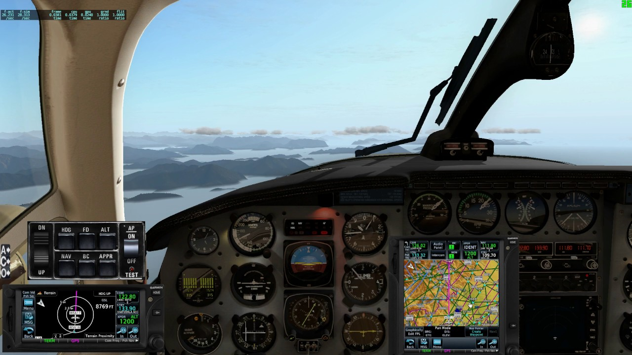 X-Plane 11: xEnviro, Reality XP GTN750/650, Carenado Navajo, LOWS to
