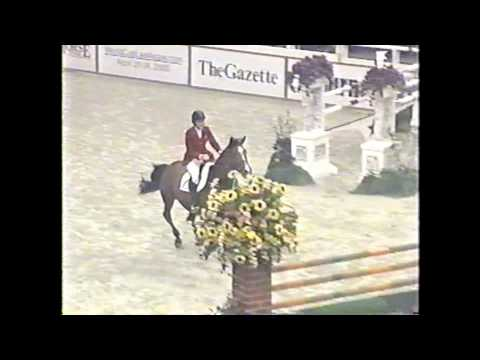 Anne Kursinski and Lorenzo at the Washington International Horse Show 2004