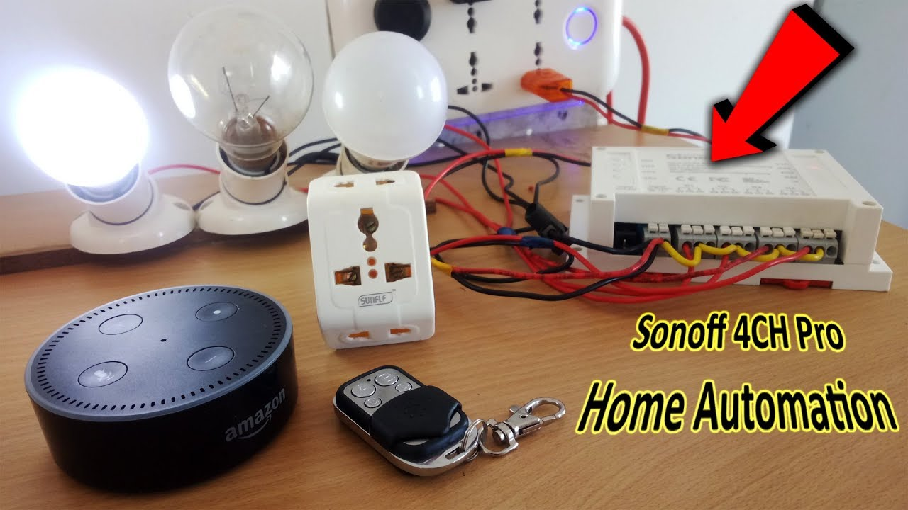 Sonoff 4CH Pro Smart switch Unboxing & Installation | Home Automation
