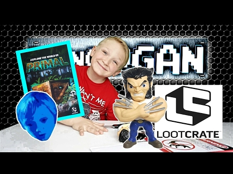 LOOT CRATE MARCH 2017 PRIMAL!!!
