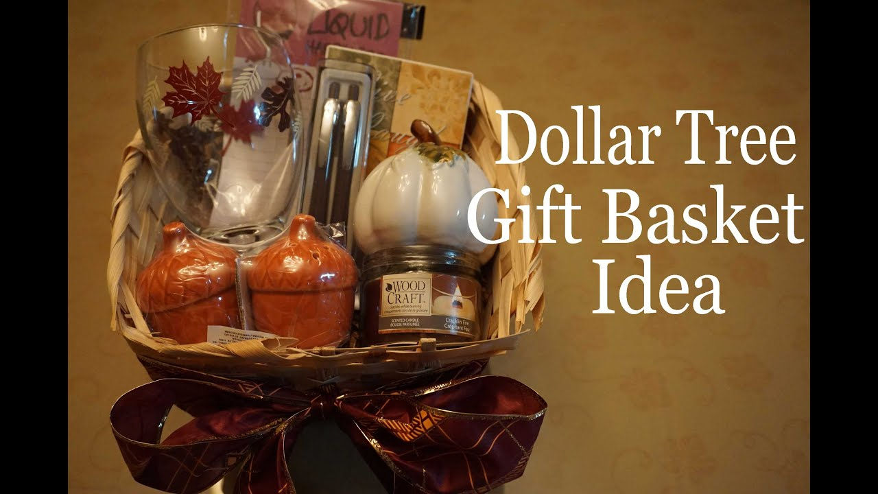 Dollartree gift basket idea fall autumn 2015 for Homemade christmas gift baskets for couples