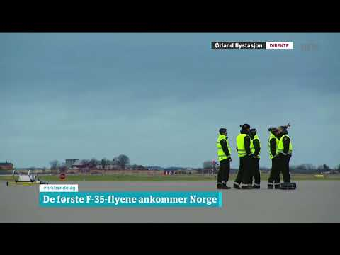 First three F 35 in Norway 3th november 2017