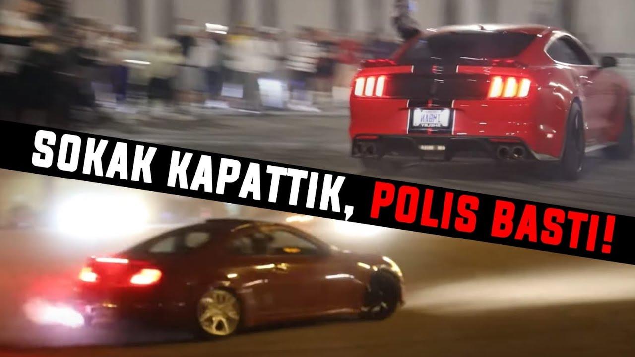 DRİFT GECESİ!! POLİS BASTI!! 200+Araba!!