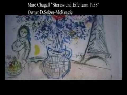 Marc Chagall Strauss und Eifelturm 1958 Original Lithographie  Owner Selzer-McKenzie SelMcKenzie
