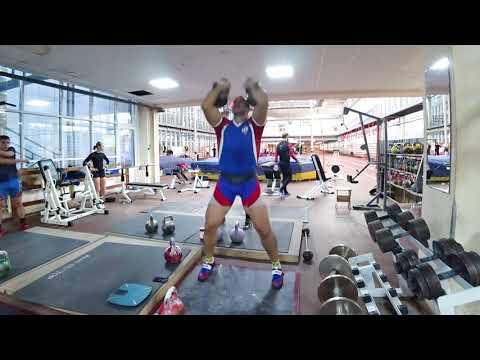 Иван Денисов Длинный цикл 3 минуты 36 кг на Турнире Гиревой спринт 2020