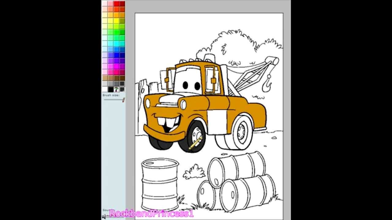 Disney Cars Online Coloring Games