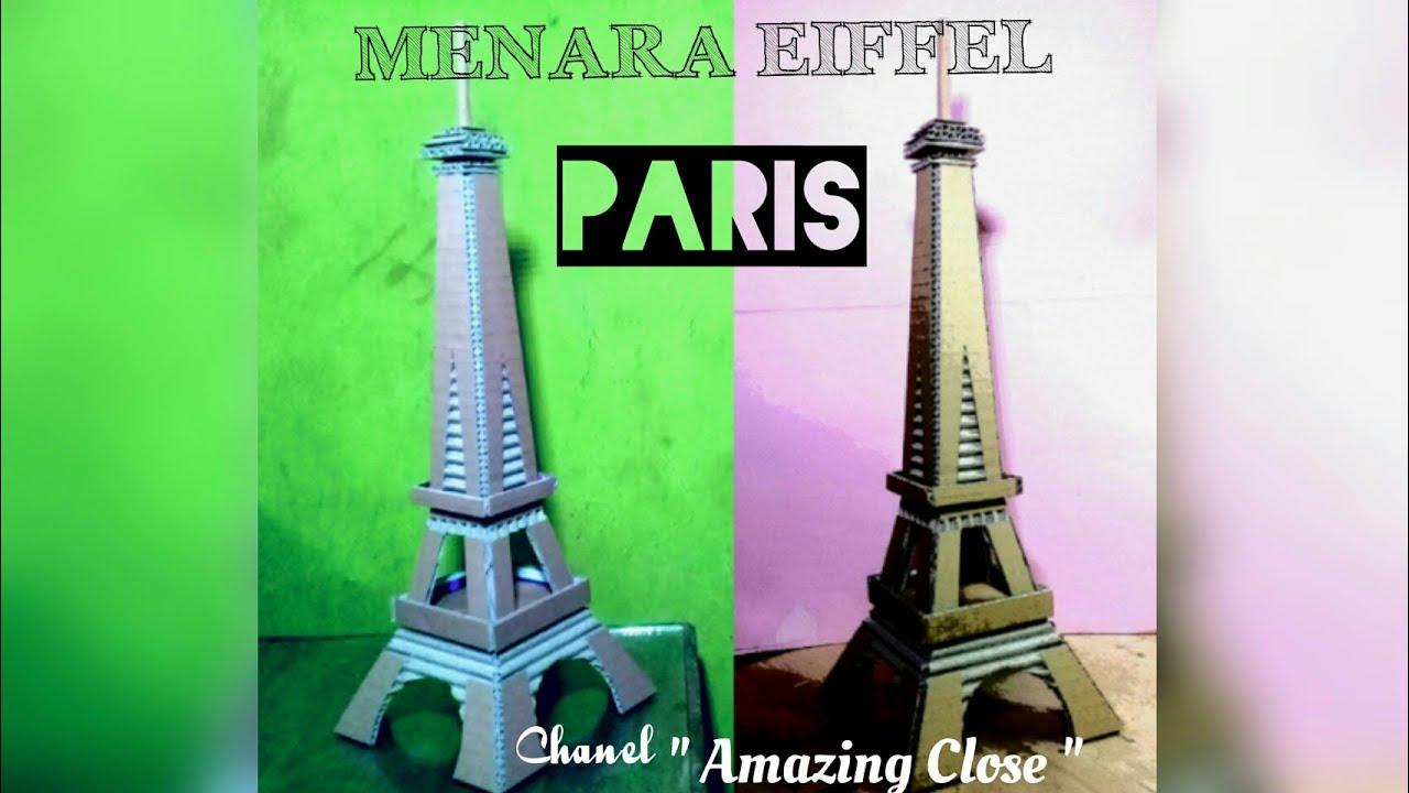 Kerajinan Menara Eiffel Dari Bambu
