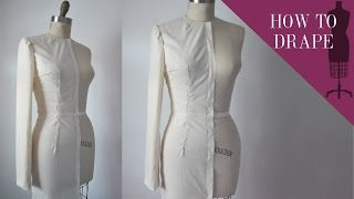 How To Drape A Straight Tailored Sleeve