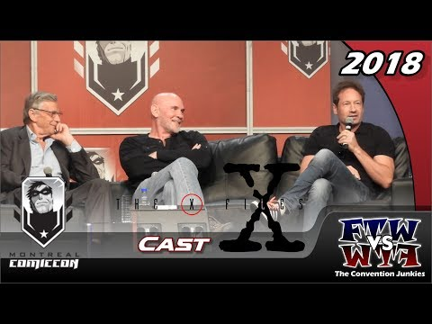 The XFiles David Duchovny, William B. Davis, Mitch Pileggi Montreal Comiccon 2018 Full Panel