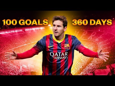 Throwback to when Messi scored 100 goals in 360 days - Oh My Goal