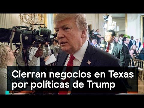 Cierran negocios en The Woodlands, Texas, por políticas de Trump - Despierta con Loret