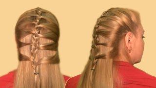 Оригинальная Прическа| Разновидность Колоска| Видео 2013| Original Hairstyle - a kind of spikelets.