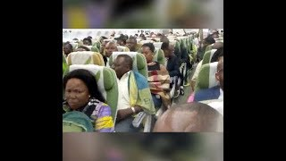 Ethiopian airlines flight, why it is a church & prayer meeting ? due to heavy turbulence