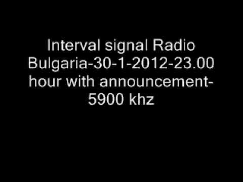 Radio Bulgaria interval signal - 30-1-2012-23.00 hour with announcement-5900 khz