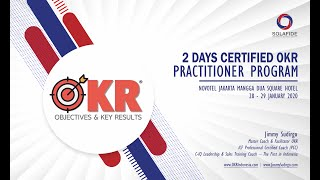 Pelatihan OKR Certified Practitioner (CPOKR) Training Program | Jimmy Sudirgo