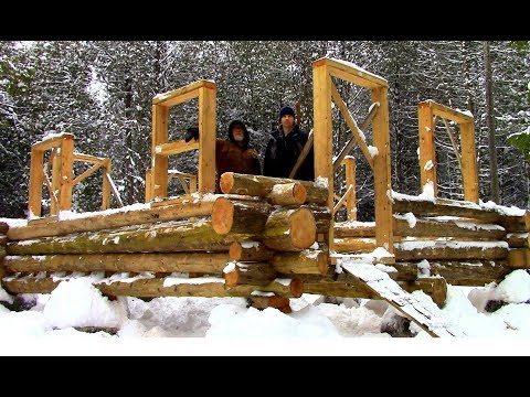 Log Cabin on a Budget- Ep 10- Walls, Windows & Door-frames