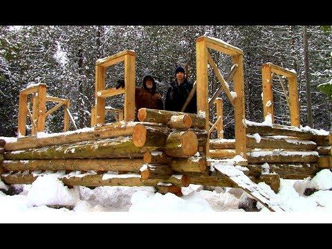 Log Cabin on a Budget- Ep 10- Walls, Windows & Door-frames