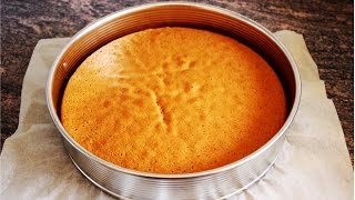 Basic Sponge Cake Base Recipe | HappyFoods