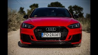 2018 Audi RS5 Coupe - 450HP red monster!! Start-up, sound & acceleration!