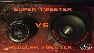 SUPER TWEETER VS REGULAR TWEETER | Size Comparison
