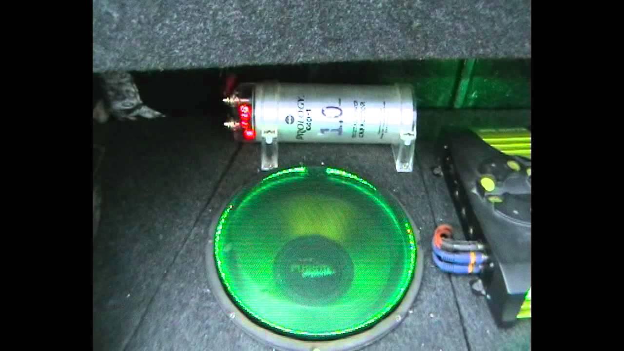 Светодиодная подсветка сабвуфера и усилителей