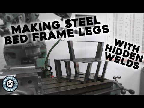 Steel Bed Frame Legs (With Hidden Welds)