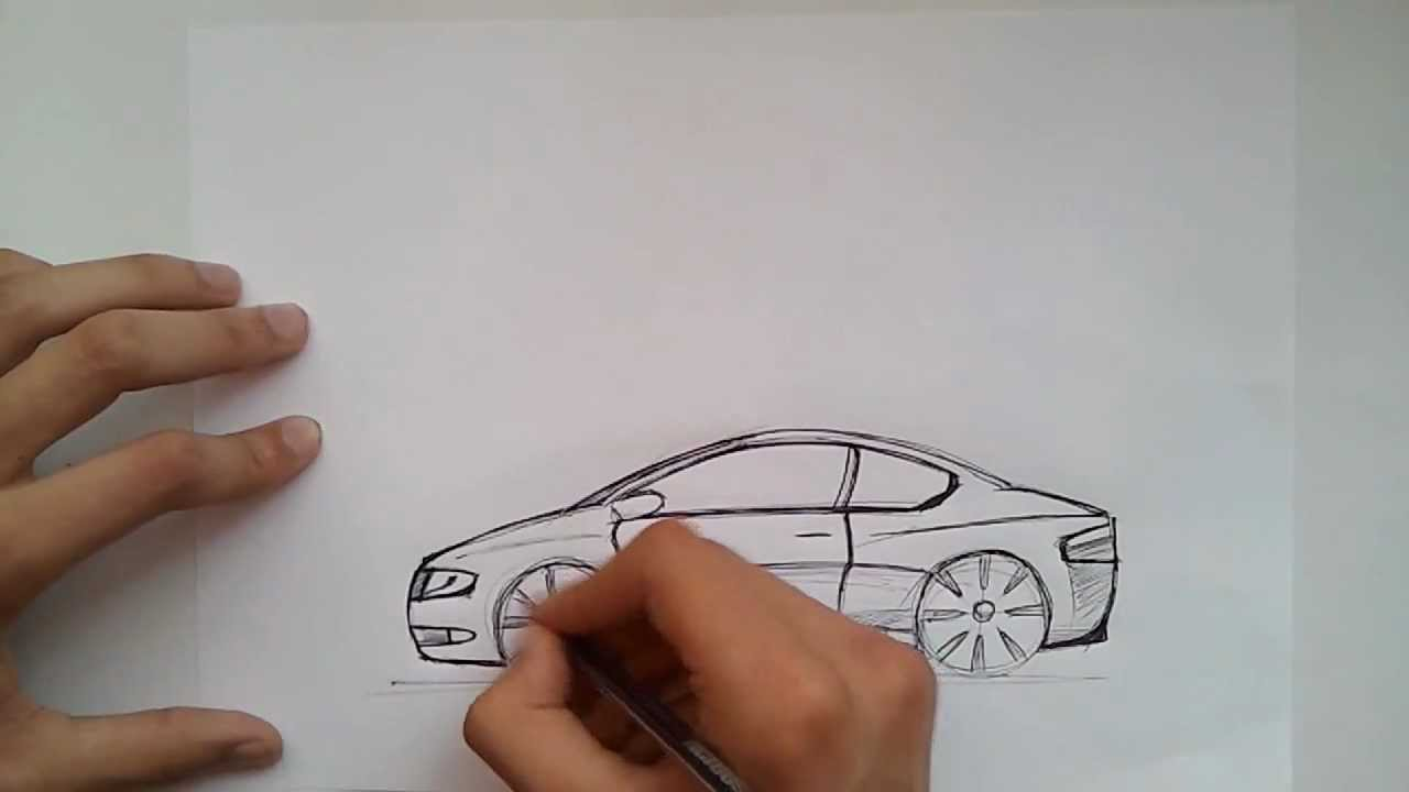 2D car sketch - YouTube