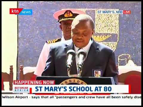 President Kenyatta shares memories of St. Mary\'s school as the school turns 80 years