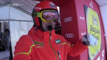 Hans Knauß - camera on ride POV, 2nd Downhill Garmisch 2017, with austrian commentary