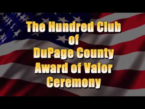 100 Club of DuPage County Award of Valor Ceremony 2016