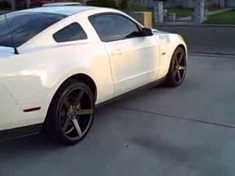 2011 White Mustang Gt Vossen Wheels Youtube