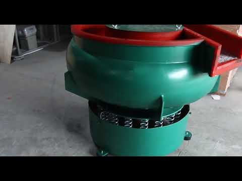 Innovative Curved Bowl Vibratory Polishing Machine With Separator
