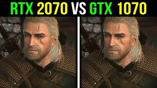 RTX 2070 vs GTX 1070 | The Witcher 3: Wild Hunt | MAX Settings 4K