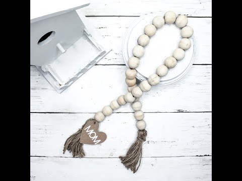 Dollar Store Wooden Farmhouse Beads (with charm)