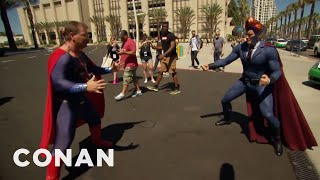 Conan Patrols Comic-Con® In His Superhero Suit  - CONAN on TBS