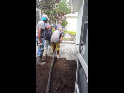 Started Concrete Pour